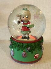 Musical Snow Globe Sankyo Music Box Water Globe Girl Light Box Christmas Vtg