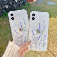For iPhone 12 11 Pro Max XS XR 8 7 Shockproof Flower Slim Clear Soft Case Cover