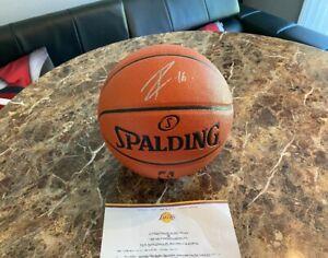 Pau Gasol Signed Autographed Spalding NBA Basketball Los Angeles Lakers COA