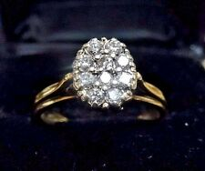 Vintage 14k Yellow Gold w/ 10 Diamonds .20 TCW Ladies Ring.  Size 6