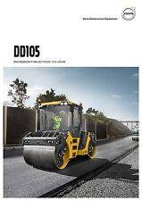 Volvo Construction DD105 09 / 2015 catalogue brochure road roller  compacteur