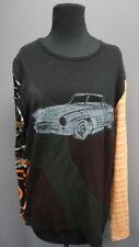 CUSTO BARCELONA Black Scoop Neck Long Sleeves Car Casual Blouse Sz 3 GG1721
