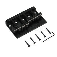 4 String Bridge for Fender Precision Jazz Bass Guitar Parts Black 201B-4 Badass