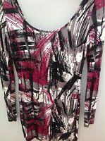 Cotton Club Purple Multi Print Studded Mini Dress Size 10-12  <N1979z