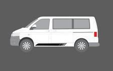 VOLKSWAGEN VW TRANSPORTER CARAVELLE T5 T6. STRISCIA LATERALE Decalcomania Adesivi Set notte.