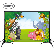 HUAYI 7x5ft Jungle safari backdrop photo background kids Photography Backdrop...