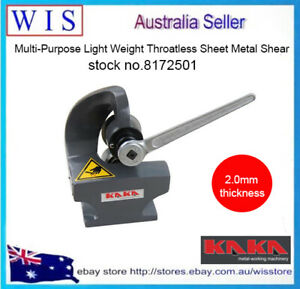 Multi-Purpose Light Weight Throatless Sheet Metal Shear,2mm Thickness-8172501