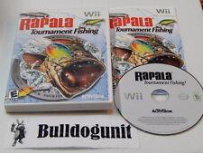 Rapala Tournament Fishing Nintendo Wii Complete Game