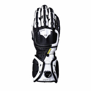 Knox Handroid MK IV Black White Motorcycle Gloves, Race, MK4, Free Shipping, New