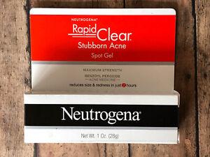 Neutrogena Rapid Clear Stubborn Acne Spot Gel 1oz EXP: 10/2021