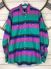 PanHandle Slim Western Vintage Mens Shirt Button Down Size 16 X 35 Multi Color
