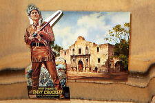Walt Disney's Davy Crockett Fess Parker W-Alamo Tabletop Display Standee 10.5""