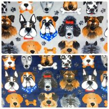 DOG FLEECE FABRIC SUPER SOFT DOUBLE SIDED 152CM WIDE - CRAFT FABRIC