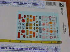 Microscale Decal N #60-420 Commercial Signs 30's & 40's Shell, Derby, Dixie, &