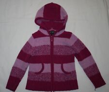 The Children's Place Girls Size S (5-6) Long Sleeve Purple Zip Up Hooded Sweater