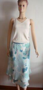 ANN TAYLOR LOFT  Green Chiffon Layered Skirt (Size 8)