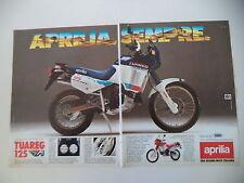 advertising Pubblicità 1987 MOTO APRILIA TUAREG 125