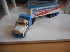 """Siku Mack Truck + Trailer """"Transport Service"""" in White/Blue (siku nr: 3117)"""