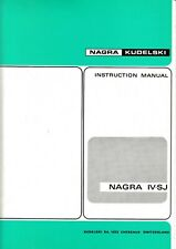 Bedienungsanleitung-Instruction Manual für Nagra IV-SJ (4-SJ)
