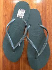 Havaianas Brasil Thongs Flip Flops ONE Pair Khaki Size 39-40 8.5