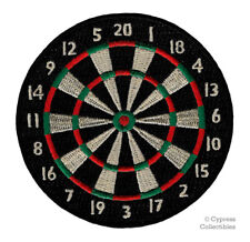 Dartboard Patch iron-on embroidered Dart Board Bullseye Emblem Pub Game Novelty