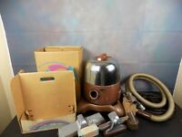 Vintage Rainbow Rexair Model D2 Vacuum Cleaner w/ Attachments & Hose