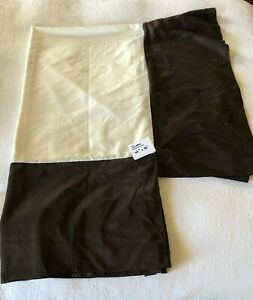 "Dark Brown Queen Faux Silk Bed Skirt/Dust Ruffle 15"" Drop 100% Poly"