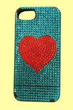 JIMMY CRYSTAL New York Rhinestones RED HEART iPhone 5/5s Case Cover Msrp $175.00