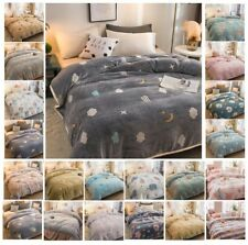 Nap Blankets Quilt Summer Thin Coral Fleece Thick Warm Winter Flannel Bed Sheets