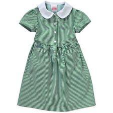 John Lewis Girls' Striped Summer School Dress, Green Age 16 BNWT RRP £28