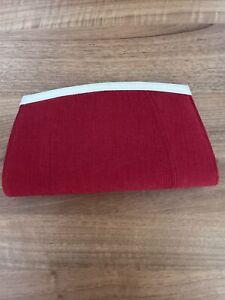 Jacques Vert Red Clutch Handbag