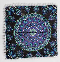 Large Indian Square Floor Pillows Mandala Decor Meditation Cushion Cover Decor