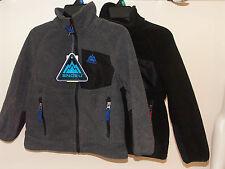 Snozu Boys Fleece Jacket - Colour Black & Red or heather grey & blue s/m BNWT