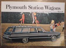 PLYMOUTH STATION WAGONS orig 1965 USA Mkt Sale Brochure - Fury Belvedere Valiant