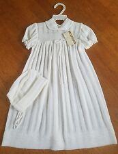 VTG 1950s Friemanit Baby Baptism CHRISTENING GOWN Bonnet Cap Knit NWT old stock