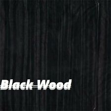 "Dip Hydrographic Film Water Transfer Printing WOOD 19X196"" DARK BLACK"