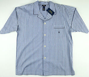 Polo Ralph Lauren Sleepwear Stripe Woven Pajama Shirt XL $40