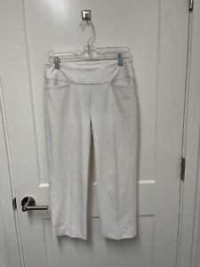 Tail Women's WHITE Stretch Golf Capri Pants size 6