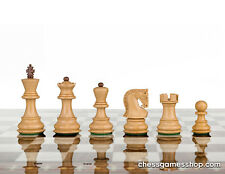 """Dubrovnik ROYAL 3"""" chess pieces-wooden,weighted,felted - Seshaam wood, GIFT ITEM"""