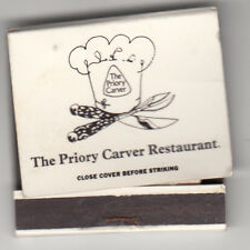 MATCHBOOKS - THE PRIORY CARVER RESTAURANT, BIRMINGHAM