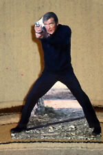 "James Bond 007 Roger Moore Figure Tabletop Display Standee 10 1/4"" Tall"