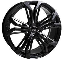 18x8 Enkei Rims VORTEX5 5x108 +40 Black Rims Fits Ford Focus Thunderbird