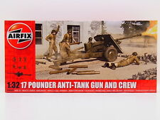 LOT 32485 | AIRFIX A06361 - 17 Pounder Anti-Tank Gun & Crew 1:32 Bausatz NEU OVP