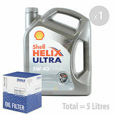 Engine Oil and Filter Service Kit 5 LITRES Shell Helix Ultra 5W-40 synth 5L