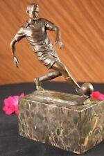 SIGNED BRONZE ARTDECO SCULPTURE SOCCER FUTBOL WORLD CUP TROPHY STATUE FIGURINE