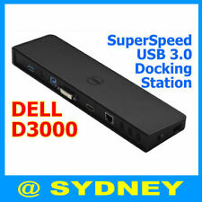 Genuine Dell D3000 SuperSpeed USB 3.0 Docking Station with Power Adapter R47M9