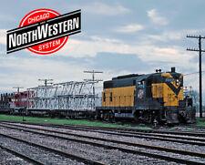Chicago & North Western GP7 Sturdy Meta Sign