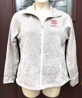 Cornell University Full ZIP Charles River Womens Gray Beige Sweater Jacket Sz L