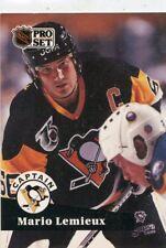 MARIO LEMIEUX 1991-92 Pro Set  #581 Pittsburgh