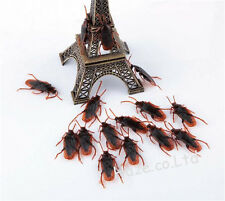 Realistic Cockroach Plastic Fake Roaches Creepy Bugs Tricky Toy Kids Toys 50pcs